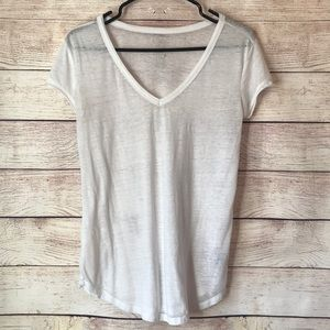 Aerie Real Soft Short Sleeve White XS